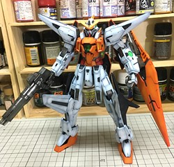 Picture of Kyrios Gundam Built & Painted 1/100 Model Kit