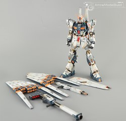 Picture of Nu Gundam Ver.ka Twin Funnel Weaterthing Built & Painted MG 1/100 Model Kit