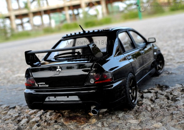 Picture of Mitsubishi Lancer Evolution IX EVO 9 (Black) Built & Painted Vehicle Car 1/24 Model Kit