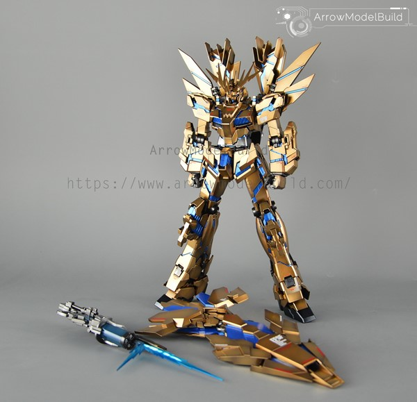 Picture of Banshee Gundam (Custom Gold)  Built & Painted MG 1/100 Model kit
