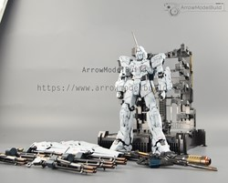 Picture of Unicorn Gundam Built & Painted with LED MGEX 1/100 Model Kit