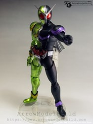 Picture of ArrowModelBuild Kamen Rider Double Cyclone Joker Build & Painted Model Kit