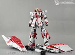 Picture of ArrowModelBuild Nu Gundam HWS Ver.ka (Custom Metal Red) Built & Painted MG 1/100 Model Kit