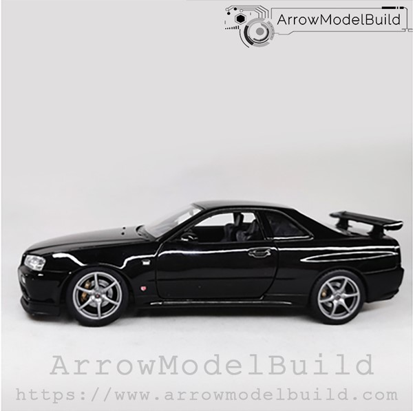 Picture of ArrowModelBuild Nissan R34 (Black) 1/24 Model Kit