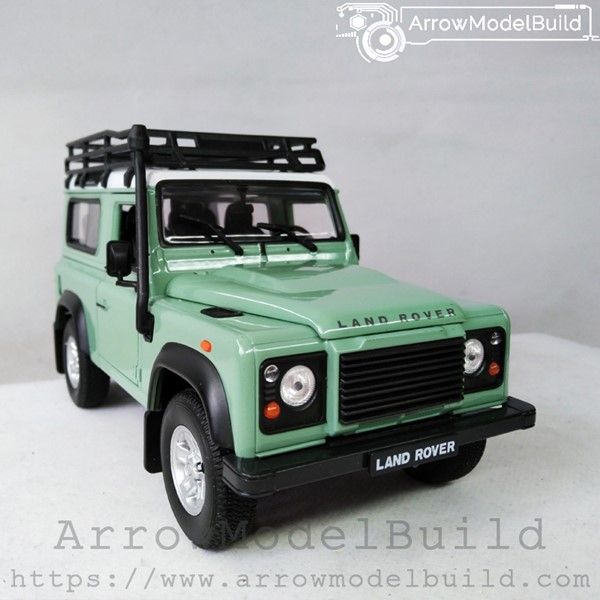 Picture of ArrowModelBuild Land Rover Custom Color (Jade Green) With Luggage Rack 1/24 Model Kit