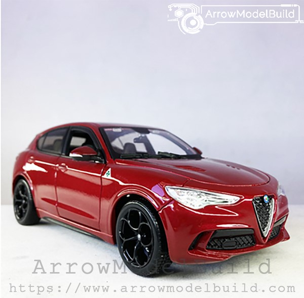 Picture of ArrrowModelBuild Alfa Romeo Stelvio (Racing Red) Four-Leaf Clover Performance Version 1/24 Model Kit