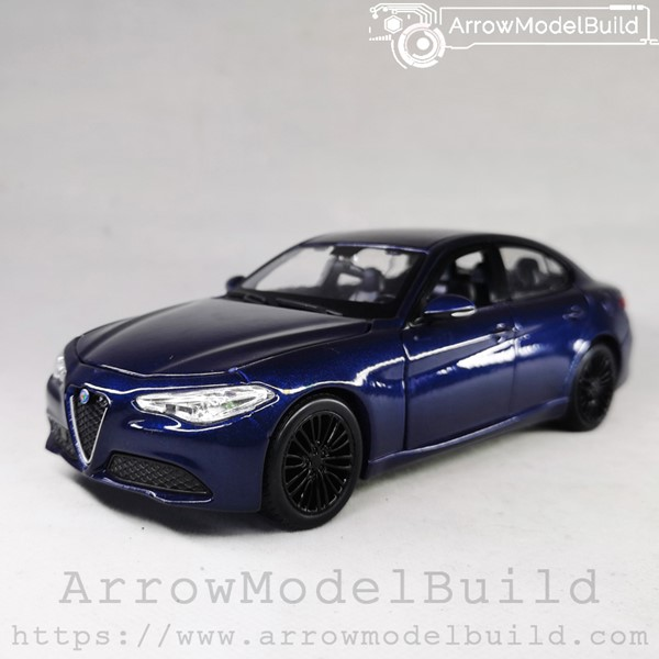 Picture of ArrrowModelBuild Alfa Romeo Juliet (Monte Carlo Blue) Blue and Black Wheels Edition 1/24 Model Kit