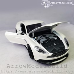 Picture of ArrowModelBuid Aston Martin Vanquish (Pearl White) Black Wheel Edition 1/24 Model Kit