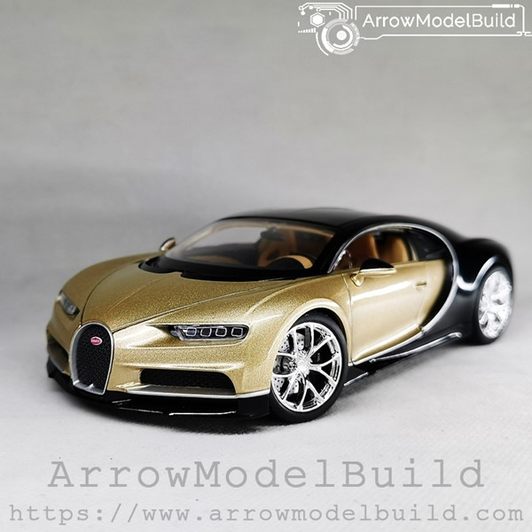 Picture of ArrowModelBuild Bugatti Chiron (Champagne Gold + Bright Black) 1/24 Model Kit