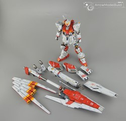 Picture of Nu Gundam HWS Ver.ka (Custom Red) Built & Painted MG 1/100 Model Kit